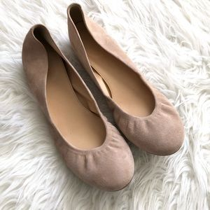 J.Crew Nude Suede Leather Cece Ballet Flats for sale